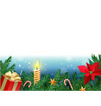 christmas background new year decoration with fir vector image