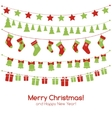 Christmas greeting card with festive garlands vector image vector image