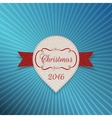 Christmas realistic white Sticker with red Ribbon vector image vector image