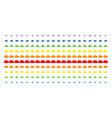 cloud shape halftone spectral pattern vector image vector image