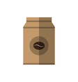 Coffee beans paper bag vector image