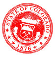 colorado state rubber stamp vector image vector image