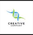 dna logo design concept vector image vector image