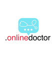 doctor online logo mobile medicine app working vector image vector image