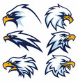 eagle logo set vector image