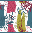 exotic trendy pattern with tropical plants modern vector image vector image