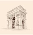 figure triumphal arch vector image