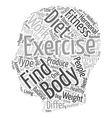 Fitness and Exercise Advice text background vector image vector image