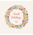 Frame with sweets and candy vector image vector image