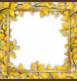 frame with yellow autumn leaves vector image vector image