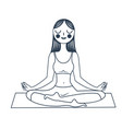 girl sitting in a lotus pose vector image vector image