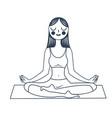 Girl sitting in a lotus pose