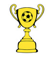 golden soccer trophy cup icon icon cartoon vector image vector image