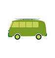 green passenger van car in vector image vector image