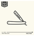 Hairdressing tools Icons series Straight razor vector image vector image