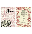 hand drawn fast food restaurant menu vector image vector image