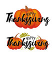 happy thanksgiving pumpkin icon fall vector image