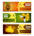 Honey Banners Set vector image vector image