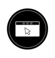 isolated website icon vector image vector image