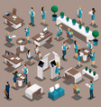 isometric businessmen a set concepts ban vector image vector image