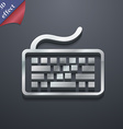 Keyboard icon symbol 3D style Trendy modern design vector image