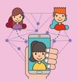 kids social media vector image vector image