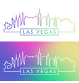 las vegas skyline vector image vector image