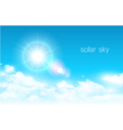 Lens Flare with Clouds Background vector image vector image