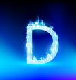 letter with blue fire vector image vector image