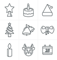 Line Icons Style Icons set Christmas Design vector image vector image