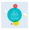 mail contract letter email briefing white line vector image