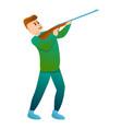 man hunter shooting icon cartoon style vector image vector image