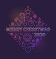 merry christmas 2020 concept colored vector image vector image