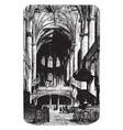 metz cathedral altar vintage engraving vector image vector image