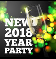new year banner champagne glass vector image vector image