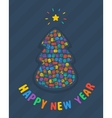 New Year Tree Card vector image