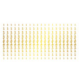 one digit gold halftone grid vector image