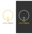 Pasta logo Logotype of food Linear icon vector image vector image