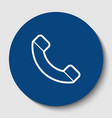 phone sign white contour vector image