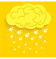 Rain Idea light bulb vector image vector image