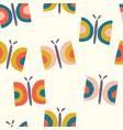 retro butterfly seamless pattern background vector image vector image