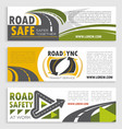 road safety and transit service banner template vector image vector image