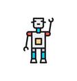 robot bot chatbot artificial intelligence flat vector image