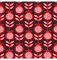 seamless of pomegranates vector image