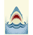 Shark jaws color vector image vector image
