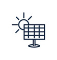 solar panel sun energy ecology environment icon vector image