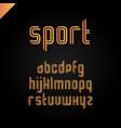 sport font square alphabet or letter set vector image vector image