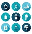 Sport Walking Icons Set vector image vector image