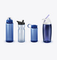 sport water bottles set vector image vector image