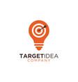 target idea logo design template vector image vector image